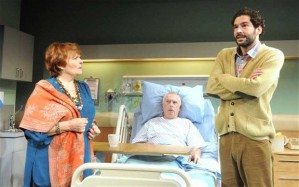 Isla Blair as Rita and Tom Ellis as Curtis