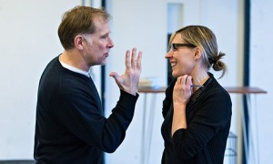 The Mistress Contract - Danny Webb and Saskia Reeves in rehearsals (Manuel Harlan)