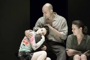 A View from the Bridge - Phoebe Fox (Catherine), Mark Strong (Eddie) and Nicola Walker (Beatrice)