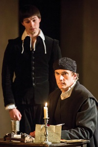 Wolf Hall - Ben Miles as Thomas Cromwell and Daniel Fraser as his son